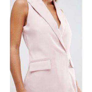 ASOS Dresses - ASOS Petite Pink Tuxedo Shift Dress